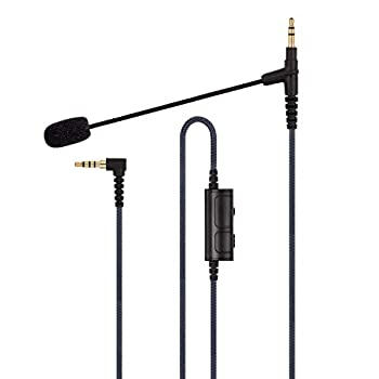 Boom Gaming Microphone Cable Compatible with Game PS4 Xbox One PC Laptop Phone and Sony MDRXB950BT MDRXB650BT MDR1000X MDR100ABN WH1000XM2 MDR-1A Headphone - with Volume Control and Mute Switch
