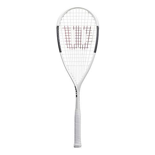 Wilson Squash-Schläger, Tempest Pro, Unisex, Kopflastige Balance, weiß/anthrazit, WR006810H0