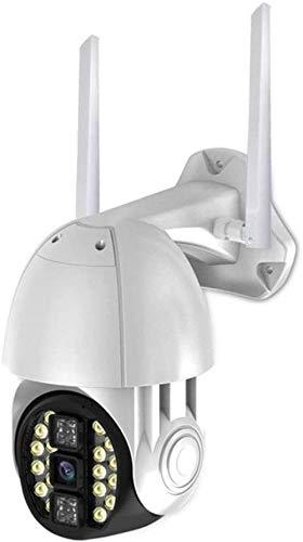 LILAODA Dome-IP-Kamera 1080P WiFi-Kamera HD-Funk-CCTV-Außenkamera Zwei-Wege-Audio 10M Nachtsicht wasserdichte Dome-Überwachungskamera Bewegungserkennungsunterstützung Maximal 128 GB SD-Karte Perfect