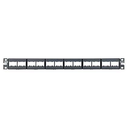 CPP24WBLY: Panduit Patch Panel, 24 Port, Modular, Black