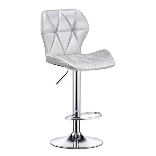 ZHJBD Furniture Stool/Kruk, hoge rugleuning, draaibaar, met krukken, voor keuken en eettafel, verstelbare stoelen, bureaustoel van PU-leer, 24 inch