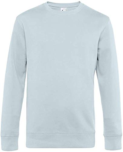 Ugsgdhgsdd Collection Men's King Crew Neck Sweat,Pure Sky,XL