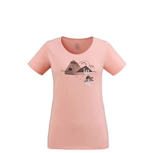 MILLET Esterel TS SS W Pop Coral, t-Shirt randonnée et Urbain Femme. (XL)