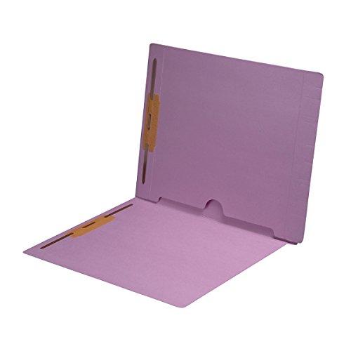 11 pt Lavender Folders, Full Cut End Tab, Letter Size, Full Back Pocket, Fasteners Pos #1 & #3 (Box of 50)