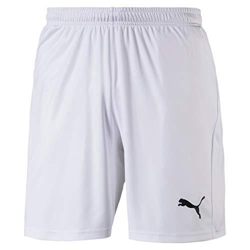 Puma Herren Liga Shorts Core with Brief Hose, White Black, M