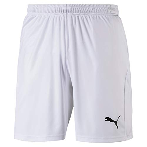 PUMA PUMA Herren Liga Shorts Core with Brief Hose, White Black, 3XL