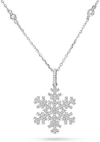 Collana TinySand in argento Sterling 925 da 48,3 cm, con ciondolo romantico a forma di fiocco di neve
