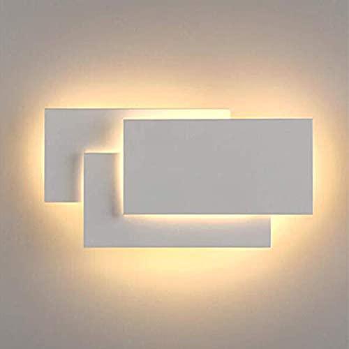 LEDMO Apliques Pared Interior LED 12W Moderno LED Aplique de Pared 3000K blanco Lampara de Pared Perfecto para dormitorio, sala de estar, pasillo, baño, escaleras