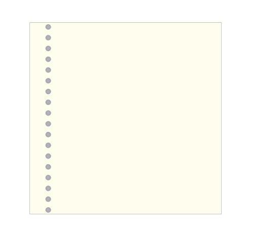 Semikolon (353074) Fotokarton 23 fach gelocht ivory (roh-weiß) -Für Fotomappe 23 Ring und Professional 23 Ring Ordner - 20 Blatt in 30,5 x 29,5 cm