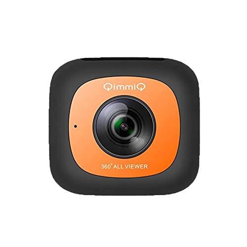 QIMMIQ Camera - CP36001 VR 360 - Orange Résolution vidéo: 1080P@30FPS - Résolution Photo: 4 Mpix (x2) - Ecran: 1, 1\