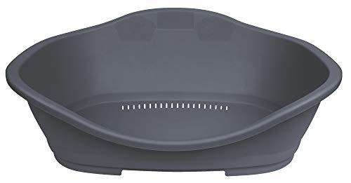Trixie 38831 Kunststoffbett Sleeper, Gr. 3: 80 × 53 cm, dunkelgrau
