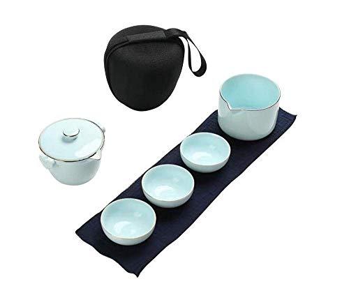 XYSQWZ Juego De Té Exquisito Taza De Pasajero RáPido Viaje PortáTil Oficina En Casa Taza Anti Escaldado para El Hogar (Color: Azul Oscuro)