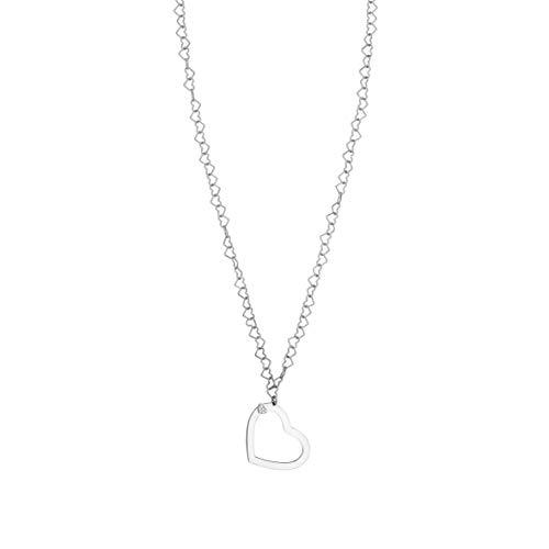 Nomination Collar Larga Beloved en Acero, Plata y Circones Blancos con Colgante Corazón. Medida: 84 cm. Colgante: 5 x 4 cm.