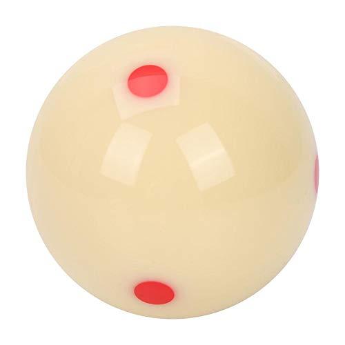 Tihebeyan 5,72 cm Dot Spot Poolball Billard Trainingsball für Kinder und Erwachsene (weiß)