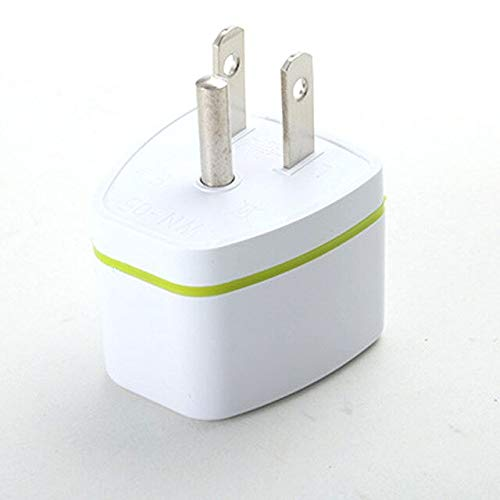 Jammas Travel Charger Best Sellers EU AU UK Germany To USA US Canad 3pin Travel Adaptor Plug Converter Adapter - (Standard: US Plug, Color: White)