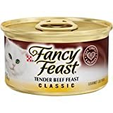 Fancy Feast Classic Tender Beef Feast Canned Cat Food, 3 oz, 12 Cans