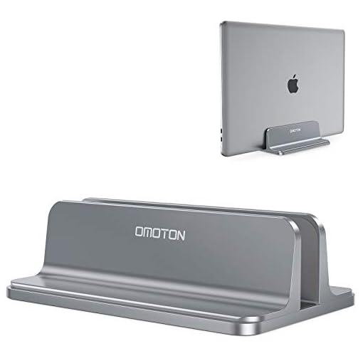 OMOTON Soporte Laptop, Atapta a Macbook Pro/Air, Huawei, DELL y Otros Portátiles y Netbooks, Vertical Soporte para… 1