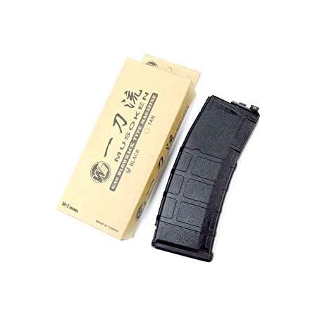 WE MASADA M4 オープンボルト対応 P-MAGタイプ スペアマガジン ブラック 一刀流 MSK/SCAR/M4