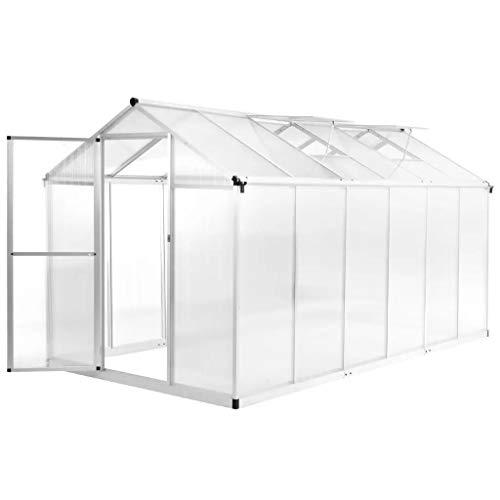 Wakects Garden Growhouse - Invernadero Transparente con Marco de Aluminio (362 x 190 x 195 cm, 13,41 m3)