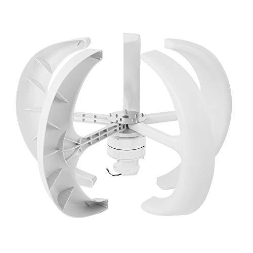 風力発電機 小型 風力コントローラー 家庭用 キャンプ 水平軸 ントローラー付き 垂直風力発電機 風力タービン 5葉 三相交流永久磁石発電機 レッド(白)