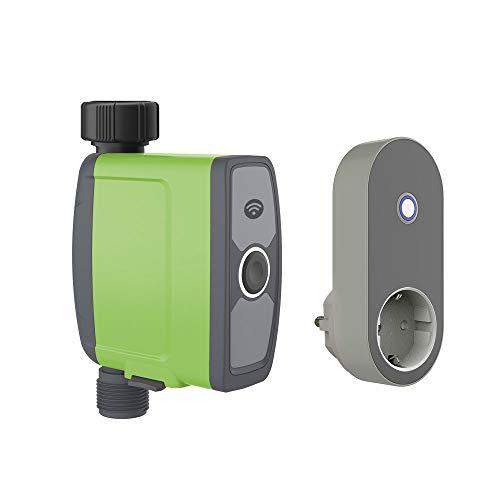 Essentials Smart Garden Bewässerungssystem, Gartenbewässerung, Bewässerungscomputer WLAN mit Repeater, mit App, kompatibel mit Alexa, tuya und smartlife, grün