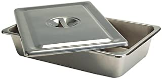 Grafco Metal Tray with Flat Lid for Medical Supplies and Catheters, 12-1/8