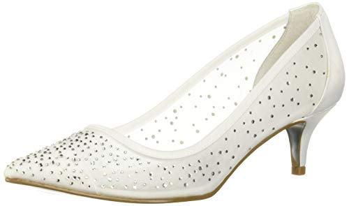 Adrianna Papell Women's Laila Pump, White, 6 M US