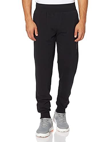 Emporio Armani Underwear Quilted Terry Pantalones de chándal, Black, S De Las Mujeres