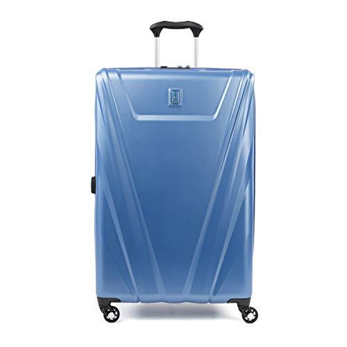 Travelpro Maxlite 5-Hardside Spinner Wheel Luggage, Azure Blue, Checked-Large 29-Inch