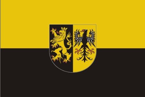 Michael & Rene Pflüger Barmstedt Nr. 0068 - Premium Autoaufkleber Fahne Vogtland - Waschstrassen fest - Flaggen Aufkleber Sticker fürs Auto Motorrad