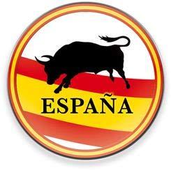 Martinez Albainox AB Imán para frigorifico y Nevera con Logo de Bandera de España con Toro, diametro de 5 cm, Potente, magnético, Decorativo, Regalo
