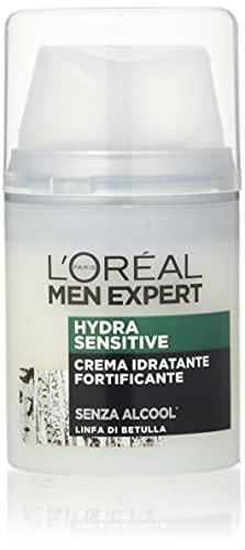 L ORÉAL Paris Men Expert Hydra Sensitive Crema Idratante Pelli Sensibili, 50 ml