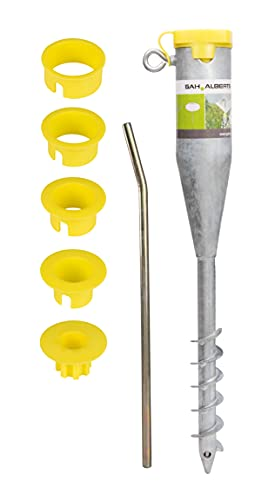 GAH-Alberts 610630 Einschraub-Bodenhülse für Rohre | für alle Standrohre von Ø25 bis 65 mm geeignet | feuerverzinkt | Länge 560 mm