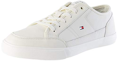 Tommy Hilfiger Herren Harrington 19A Sneaker, Weiß, 45 EU
