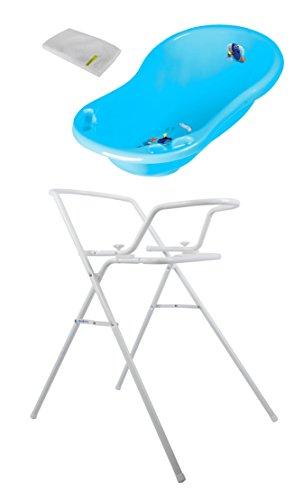 Baby Badewanne Disney Findet Dorie 84 cm mit Stöpsel + Badewannenständer + Waschhandschuh