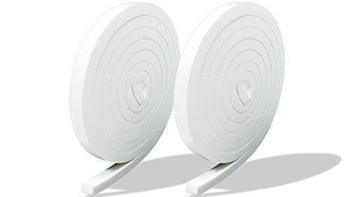 プランプ オリジナル 隙間テープ スキマッチ 白 ホワイト 厚 9 mm × 幅 10 mm × 長 2 m 2本入(合計4m) 日本製 ゴムスポンジ 防水 防音 すきま 窓 玄関 引き戸 隙間
