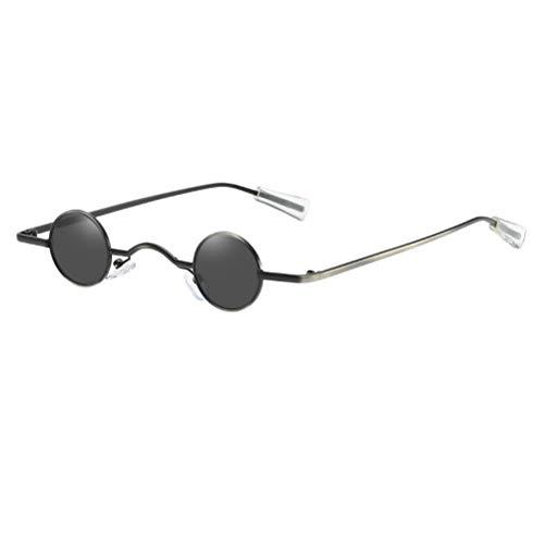 SOIMISS - Gafas de sol pequeñas redondas, creativas, para fiestas, playa, para hombres y mujeres, color negro negro Talla única