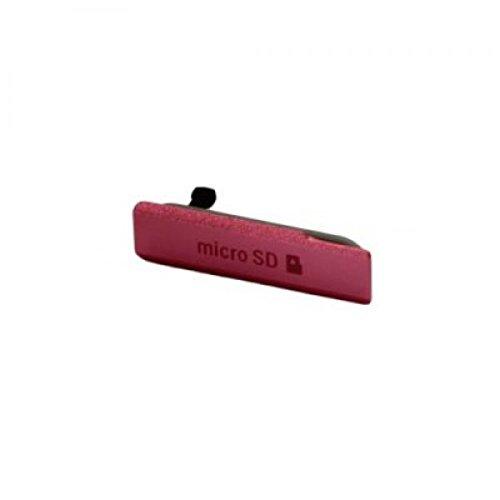 Sony Xperia Z1 Compact Micro-SD Anschluss Abdeckung pink