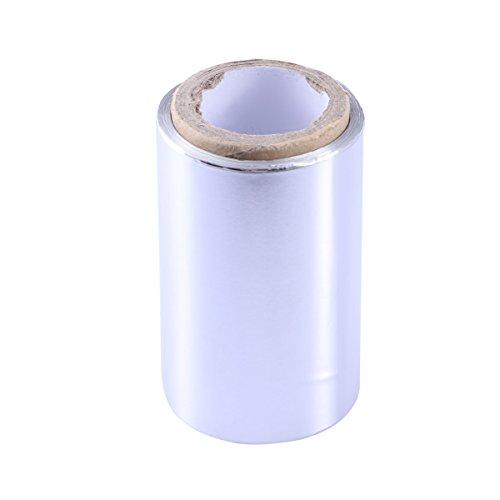 Lurrose 50 m Espesar Láminas de Estaño Cinta Peluquería Hoja de Aluminio Papel de Alambre Mujeres Niñas Belleza Herramienta de Peluquería para Manicura Decoración de Uñas Peluquería