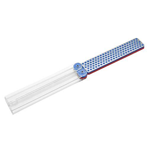 DMT DiaFold Diamantschärfer - doppelseitig - rot/fein - blau/grob - trocken oder mit Wasser verwendbar - Griffe