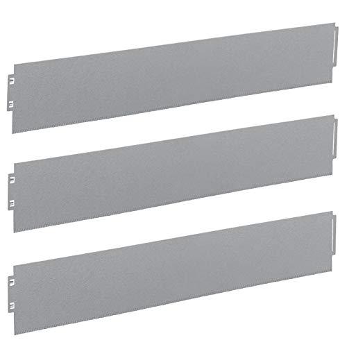 IRKA Rasenkanten schmal 18 cm mit Versteifungskante + klick-Fix-System + doppelter Korrosionsschutz | Flexible Beeteinfassung Metall | Rasenkante verzinkt | 1 Meter