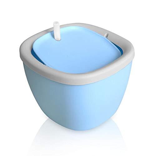 Plush-NH 1.5L Haustier-Katzen-Wasser-Brunnen-Trinken Mute Blumenwasser-Zufuhr mit Filter Hund Katze Gesundheit Pflege Drinker Produkt,Blau