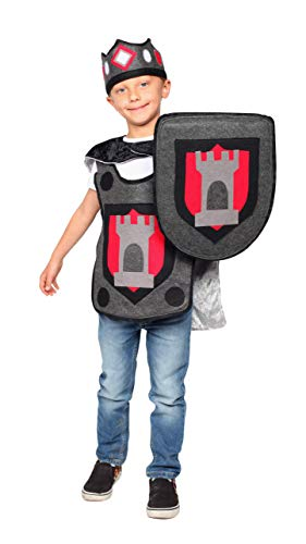 Dress Up America Kinght Costume for Kids - Noble Knight Dress-Up and Role-Play for Boys and Girls (Medium) Grey