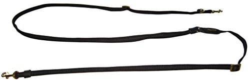 Niggeloh Hundezubehör Hundeleine Umhängeleine Hundeumhängeleine Deluxe, schwarz, 121200012, 170-380 cm