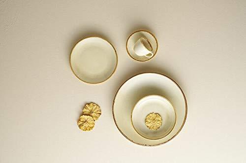 Seasons - Vajilla de porcelana (30 piezas, 6 personas), color amarillo