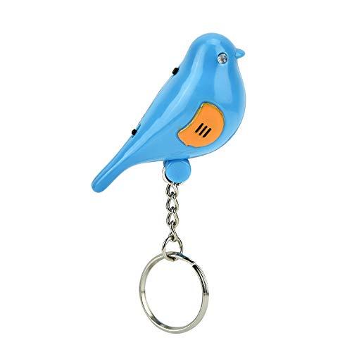 QXQX (Azul Bird Led Whistle Key Finder De Control De Voz Inteligente Llavero con Batería