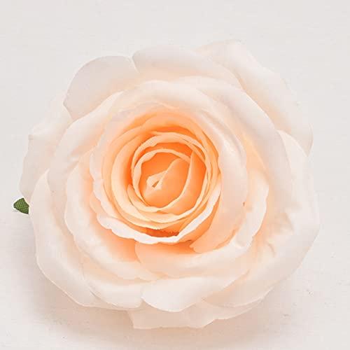 10pcs Artificial Fake Flowers Silk Rose Flower Head for DIY Wedding Party Home Decor Wreath Scrapbook Supplies Silk Flower Arrangements