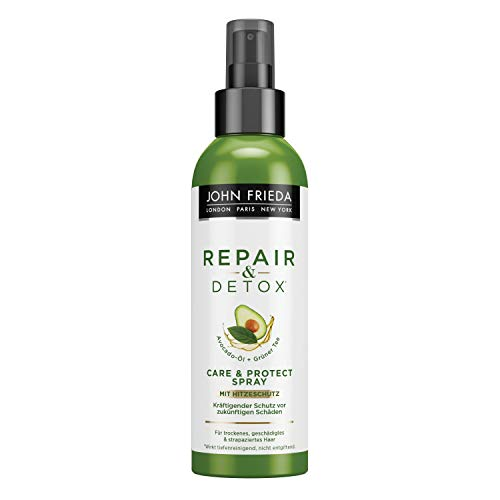 John Frieda Repair & Detox* Care & Protect Spray - Mit Avocado-Öl Und Grüntee, 1er Pack (1 x 200 ml)