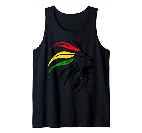 Rasta Reggae Lion Art for Rastafari Lover Tank Top
