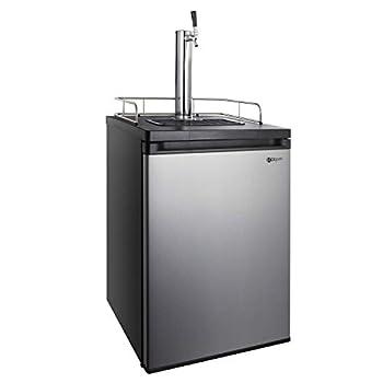 Kegco Kegerator Full Size Keg Refrigerator - Single Faucet - D System Stainless Steel